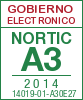 Sello de certificación de la A3:2014 con el NIU 14019-01-A30E27